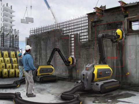 При помощи гидроробота можно удалять бетон лишь внекоторых местах