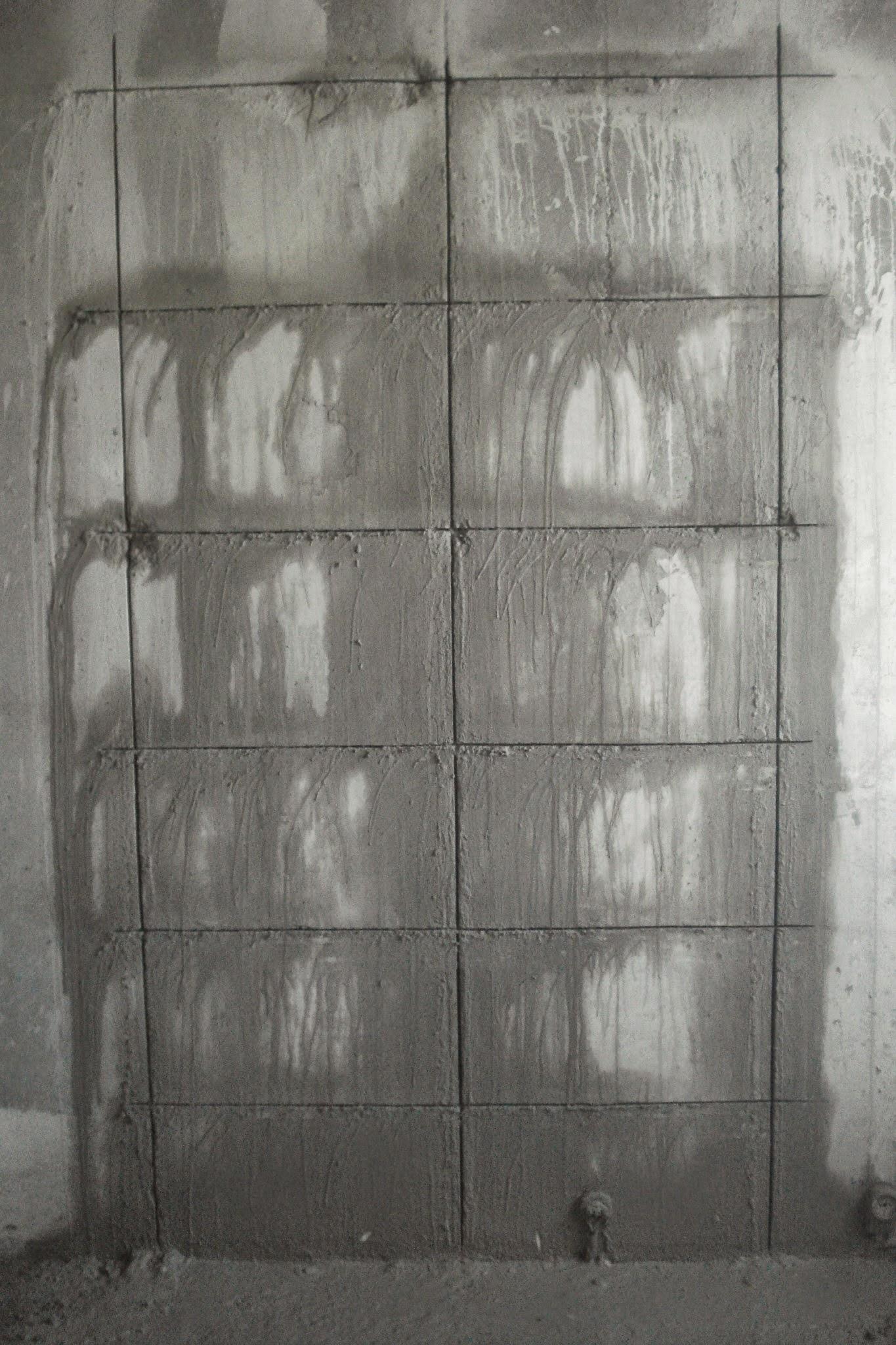 Прорезка бетона содной стороны стены
