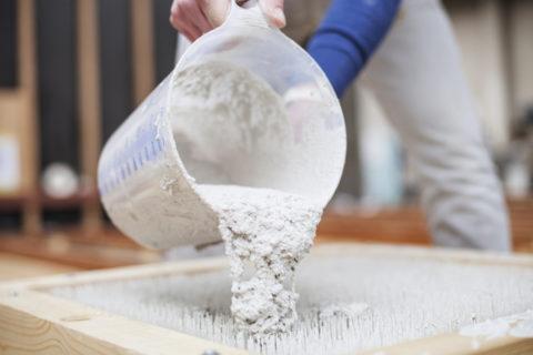 Процесс изготовления светопрозрачного бетона