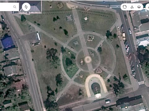 Спутниковый снимок парка
