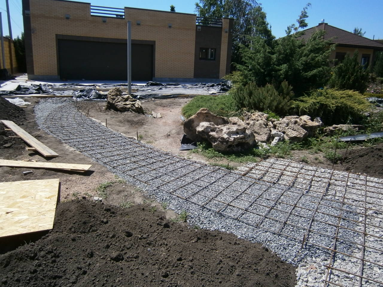 Залить бетоном двор своими руками