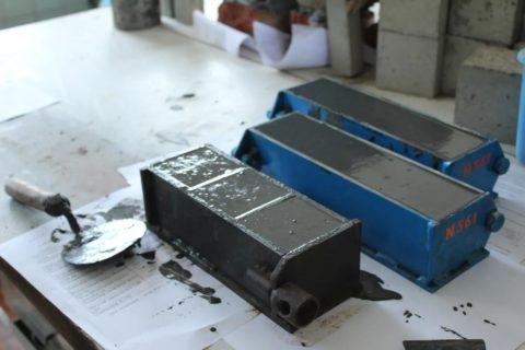 Уплотненные бетонные образцы