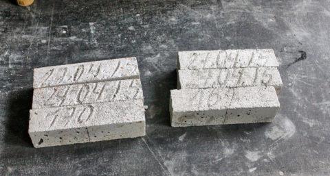 Балочки для определения активности при пропаривании цемента