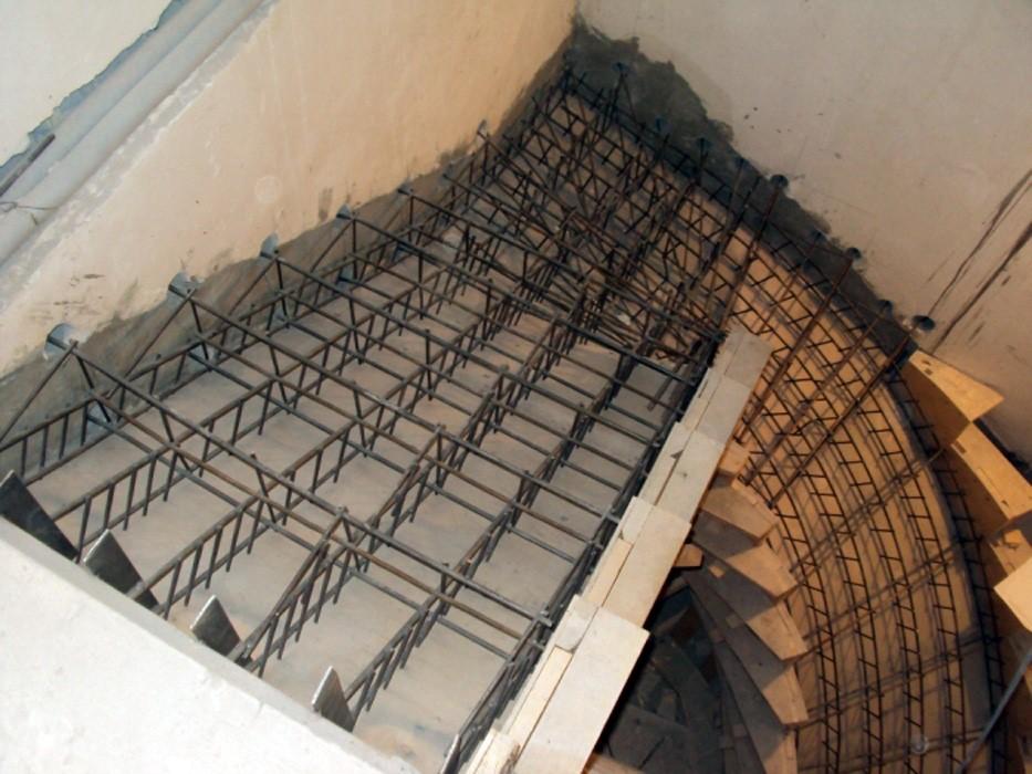 Бетоная лестница своими руками 67