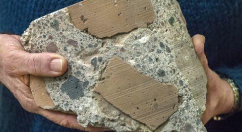 Древнеримский бесцементный бетон на основе пуццолана