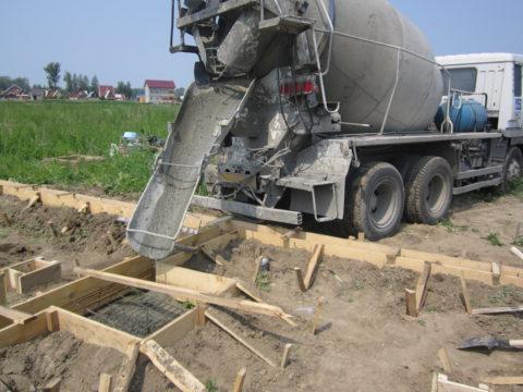 Если проведение такого рода укладки бетона для простого миксера вполне посилам
