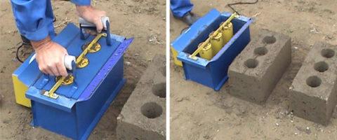 Формовочная опока для получения блоков