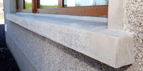 Готовый бетонный подоконник