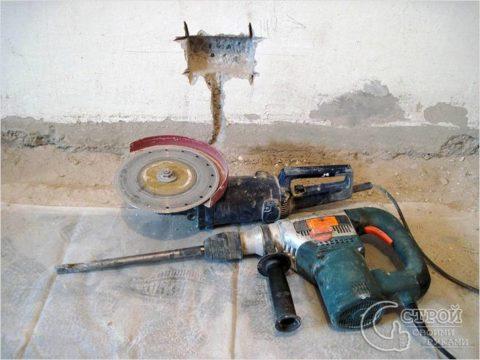 Инструменты для установки розеток