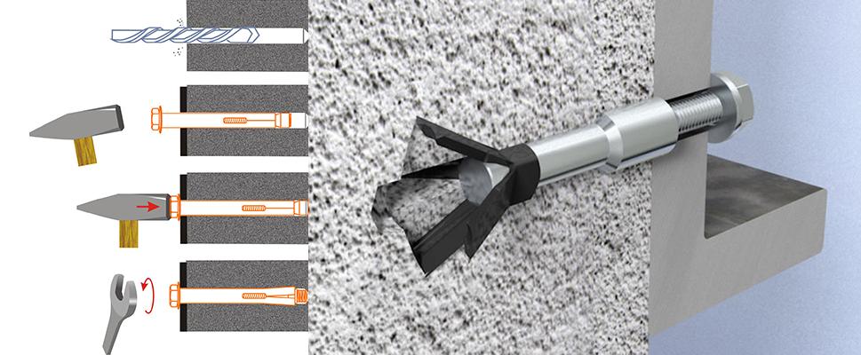как вытащить анкерный болт из бетонной стены