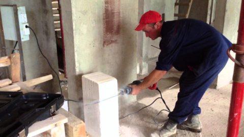 Резка бетона сабельной пилой