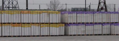 Складирование газобетонных блоков