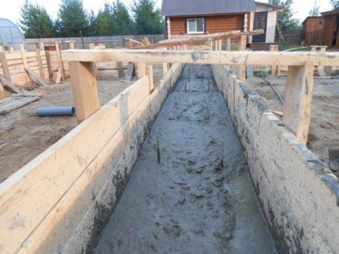 Вкачестве примера будем рассчитывать бетон для заливки ленточного фундамента