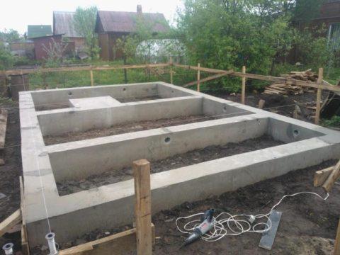 Фундамент для бани