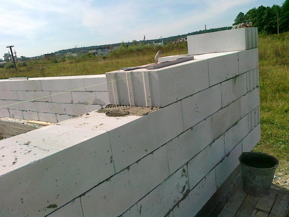 строительство стен из газоблока