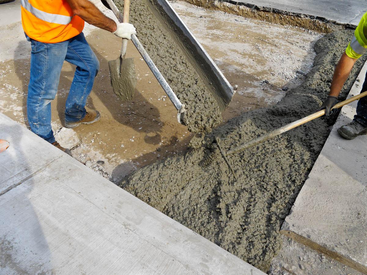 Бетон самотеком время затвердевания цементного раствора
