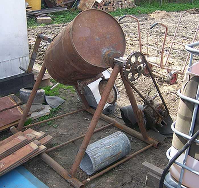 ручная бетономешалка своими руками из бочки