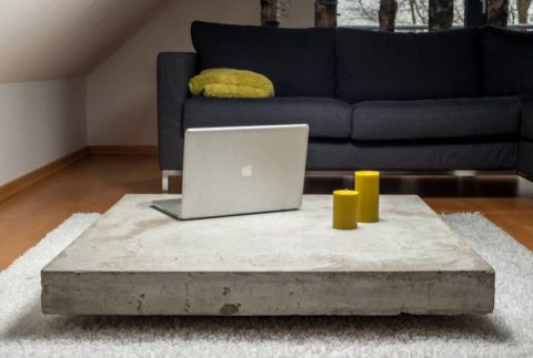 Стол из бетона в стиле Лофт