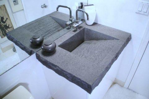 Дизайнерская раковина из бетона