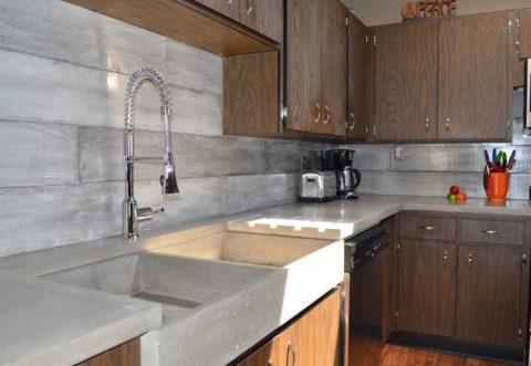 Кухонный фартук из бетона