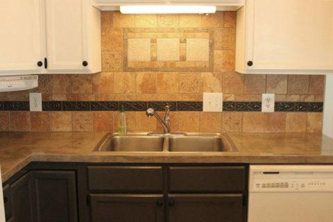 Реконструкция столешницы в кухне при помощи бетонного раствора