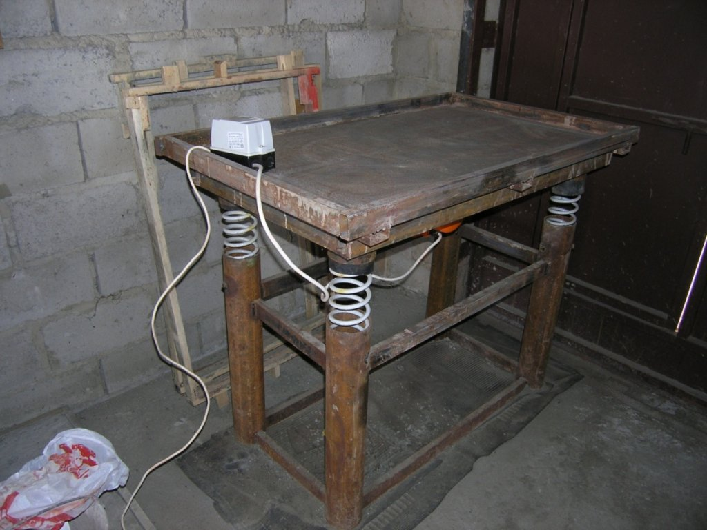 как сделать вибрационный стол