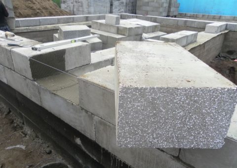 Стеновой полистиролбетонный блок