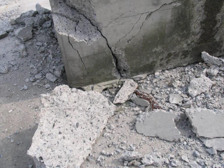 Причина разрушения бетона бетон унеча