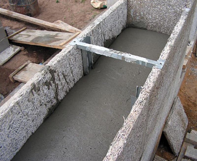 Монолитный газобетон в наружных стенах заливается в опалубку