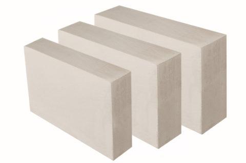 Блоки для перегородок имеют толщину 100, 150 и 200 мм