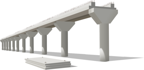 Эскиз моста изЖБИ.Вес бетона В25равен 2502кг