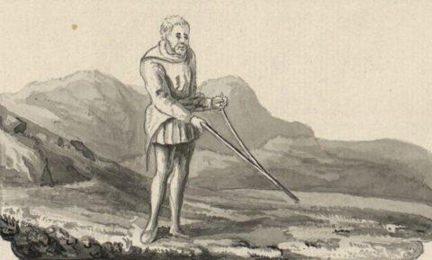 Искусство поиска водяной жилы с помощью рогатки из виноградной лозы хорошо известно с давних времен