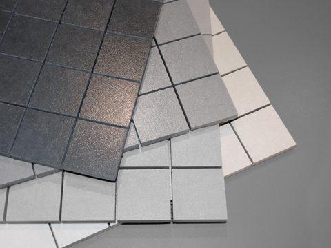 Керамогранитная мозаика серых оттенков