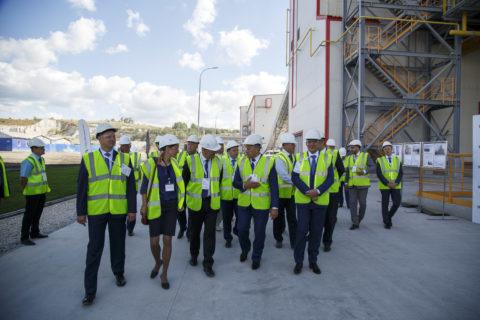 Презентация в день открытия новой линии на «Вольскцементе»