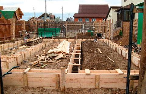 Свайно-ленточный фундамент под деревянный дом на песчаном грунте