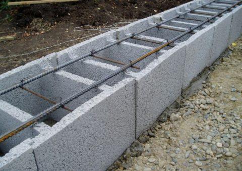 Вариант, при котором можно использовать лёгкий бетон