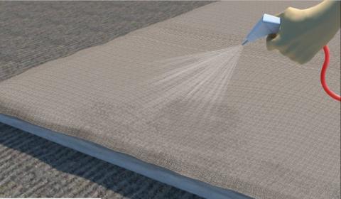 Вариант увлажнения бетона во время твердения