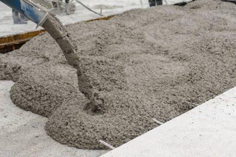 Заполнителем тяжёлого бетона служат горные породы, гравий, щебень