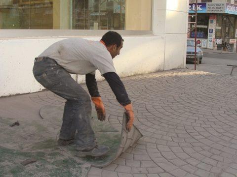 Формы для бетона архитектурные для тиснения бетонной площадки