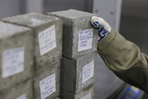 Контрольные образцы для определения прочности бетона