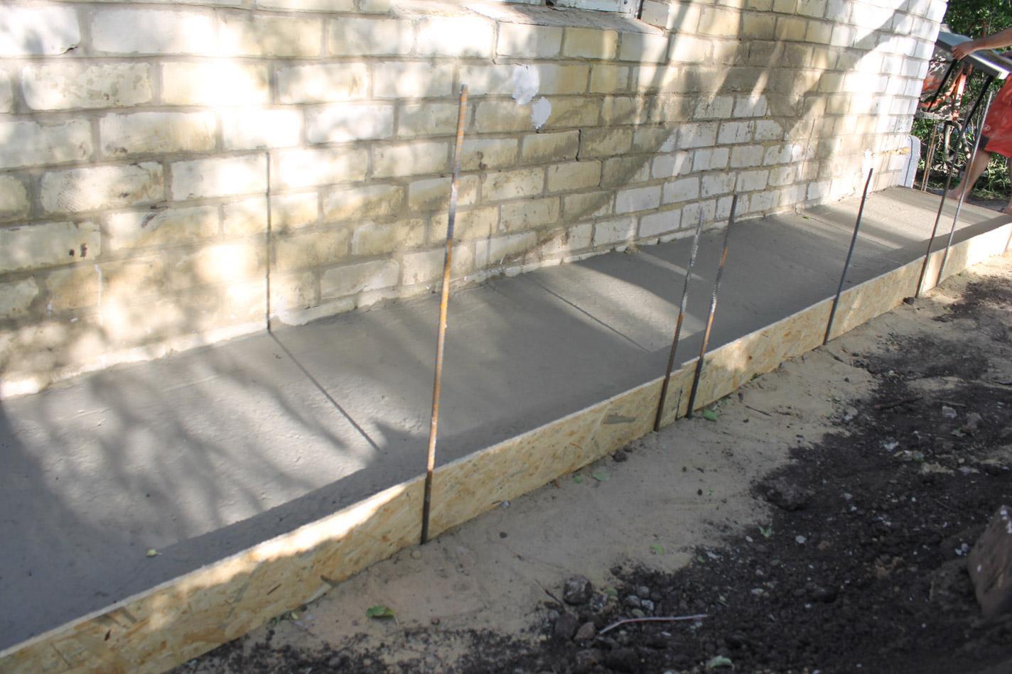 Отмостка дома бетоном строение бетонов