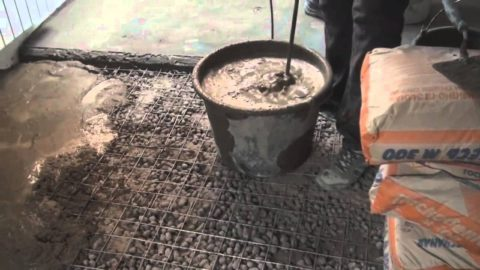 Приготовление раствора изсухой смеси