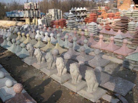 Производство малых архитектурных форм из бетона - склад готовой продукции