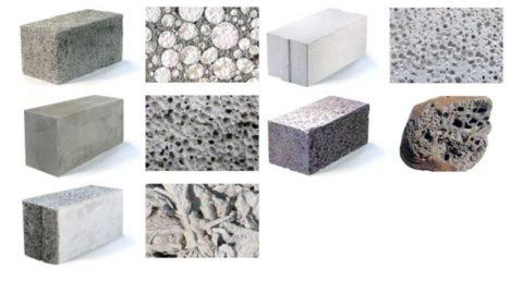 Различные виды бетона и их текстура
