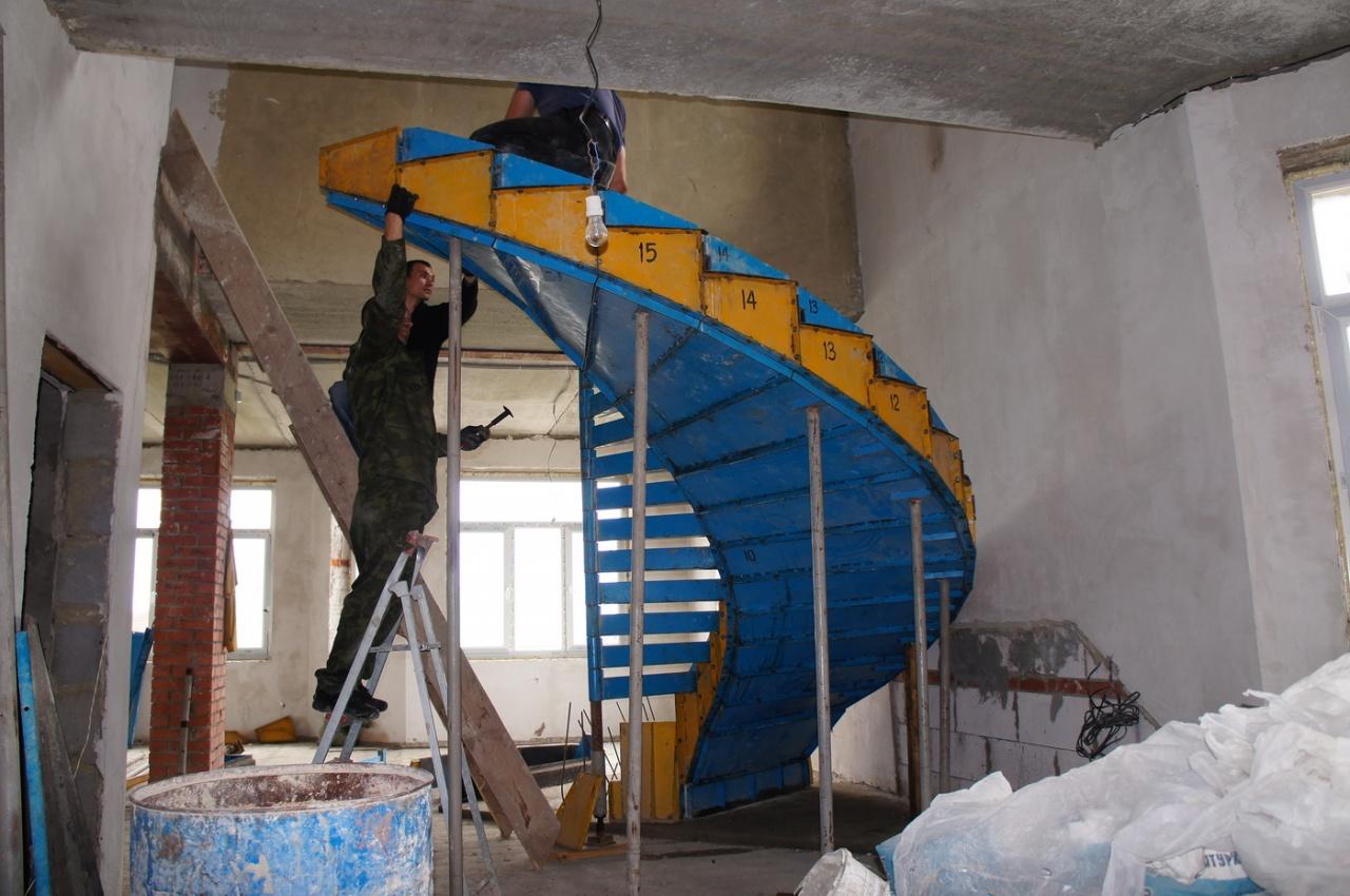 Как сделать лестницу железобетонную фото 306