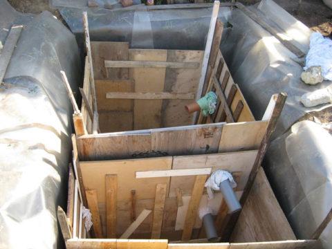 Внутренняя опалубка для заливки бетона