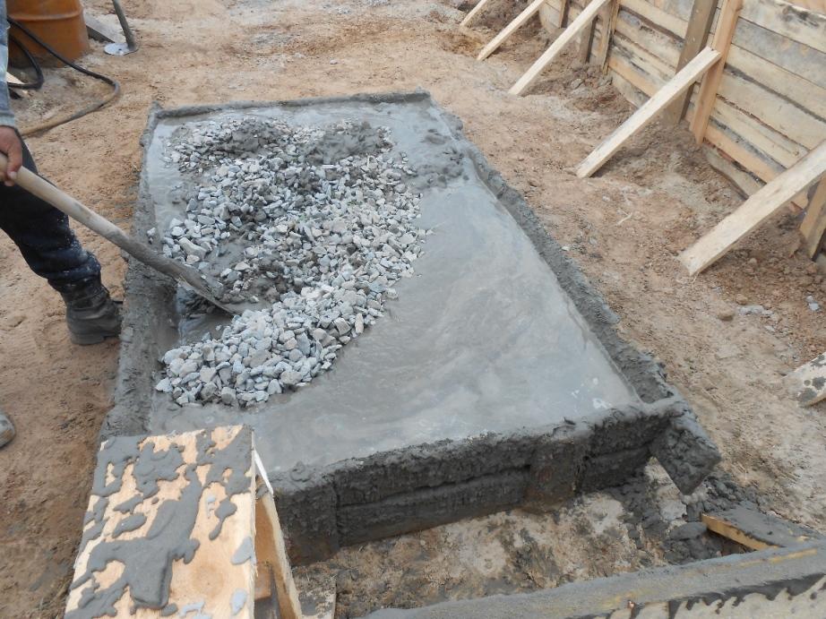 Замешивание бетона вручную сколько весит стяжка из керамзитобетона
