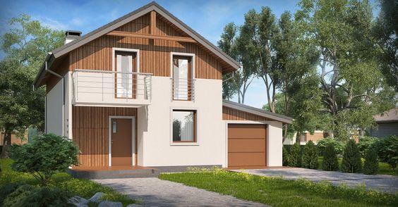 Проект дома изгазобетона 10×10м