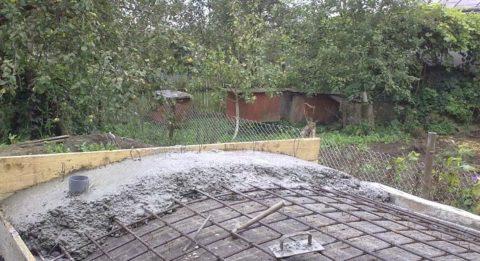 Бетонирование крыши