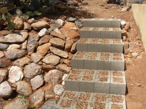 Бетонные ступеньки своими руками из блоков